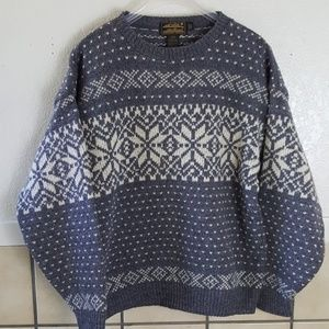 Vintage Eddie Bauer fair-isle Wool sweater M